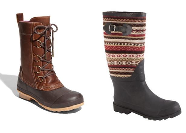 rain boots |