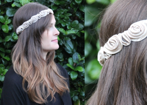 Chels rose headband