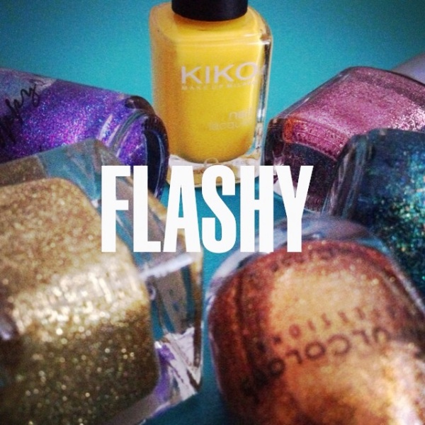 Sparkly nail polish