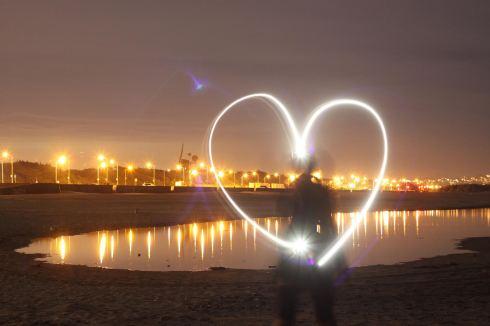 ocean beach heart